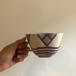 Anthropologie funky modern mug